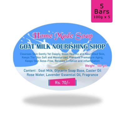 Goat Milk Nourshing Soap, 100g (Pack of 5)
