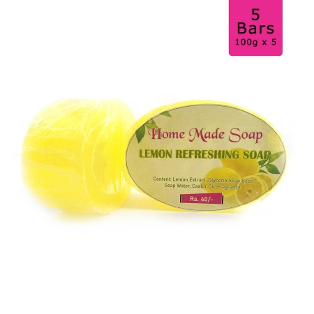Lemon Refreshing Soap, 100g (Pack of 5)