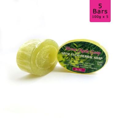 Neem Tulsi Herbal Soap, 100g (Pack of 5)